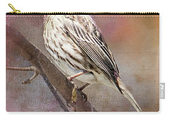 Female Sparrow On Branch Ginkelmier Inspired Carry-all Pouch