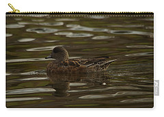 Carry-all Pouch featuring the photograph Female Wigeon by Jeff Swan