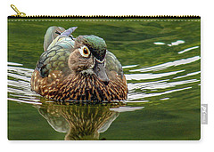 Carry-all Pouch featuring the photograph Female Wood Duck by Jean Noren
