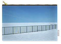 Fence In Snow Carry-all Pouch