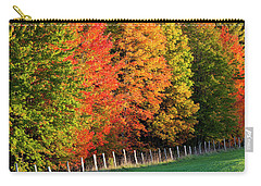Carry-all Pouch featuring the photograph Fence Line Foliage by Alan L Graham