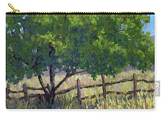 Fence Line Tree Carry-all Pouch