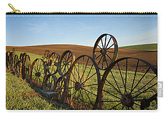Fence Of Wheels Carry-all Pouch by Mary Lee Dereske