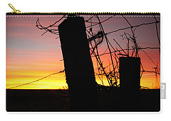 Fence Sunrise Carry-all Pouch