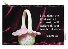 Fenton Art Glass Basket Psalms 9vs1 Carry-all Pouch