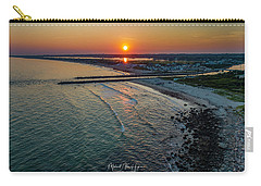 Carry-all Pouch featuring the photograph Fenway Beach Sunset by Michael Hughes