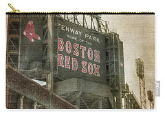 Fenway Park Billboard - Boston Red Sox Carry-all Pouch by Joann Vitali