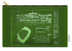 Fenway Park Blueprints Home Of Baseball Team Boston Red Sox Carry-all Pouch