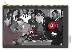 Ferdinand Porsche Showing The Prototype Of The Vw Beetle To Adolf Hitler 1935-2015 Carry-all Pouch