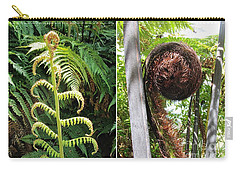 Carry-all Pouch featuring the photograph Fern And Koru by Dianne  Connolly