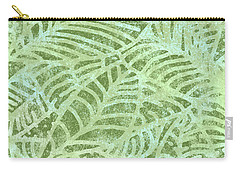 Fern Green Fossil Leaves Carry-all Pouch