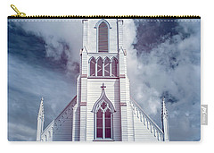 Carry-all Pouch featuring the photograph Ferndale Church In Infrared by Greg Nyquist