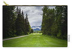 Carry-all Pouch featuring the photograph Fernie Tee Box by Darcy Michaelchuk