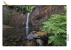 Ferns And Rocks By Abiqua Falls Carry-all Pouch
