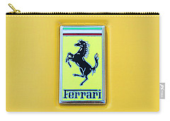 Ferrari Badge Carry-all Pouch by Theresa Tahara