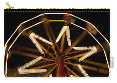 Ferris Wheel At Night Carry-all Pouch by Helen Northcott