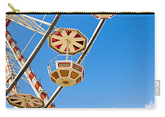 Carry-all Pouch featuring the photograph Ferris Wheel Cars In Toulouse by Semmick Photo