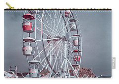 Carry-all Pouch featuring the photograph Ferris Wheel In Morning by Greg Nyquist
