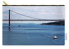 Carry-all Pouch featuring the photograph Ferry Across The Tagus by Lorraine Devon Wilke