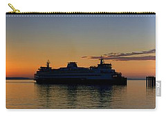 Ferry Boat Arrives To Mukilteo Ferry Terminal Carry-all Pouch