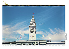 Carry-all Pouch featuring the photograph Ferry Building San Francisco 1915 - California Photography by Melanie Alexandra Price