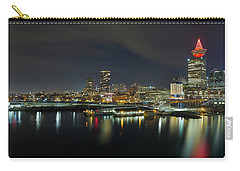 Ferry Terminal In Vancouver Bc At Night Carry-all Pouch