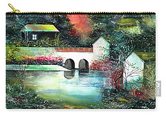 Carry-all Pouch featuring the painting Festival Of Lights by Anil Nene