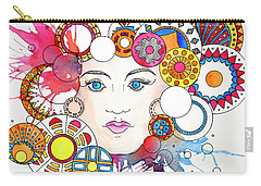 Carry-all Pouch featuring the painting Festive Celebrant by Rebecca Davis