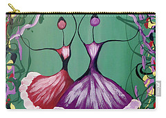Carry-all Pouch featuring the painting Festive Dancers by Teresa Wing