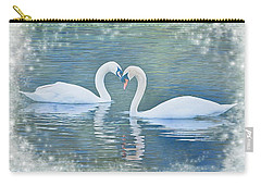 Festive Swan Love Carry-all Pouch by Diane Alexander