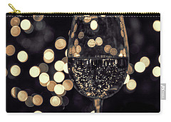 Carry-all Pouch featuring the photograph Festive White Wine by Steven Sparks