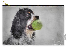 Carry-all Pouch featuring the photograph Fetching Cocker Spaniel  by Benanne Stiens