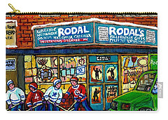 Fiddler On The Roof Painting Canadian Art Jewish Montreal Memories Rodal Gift Shop Van Horne Hockey  Carry-all Pouch