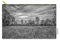 Carry-all Pouch featuring the photograph Field Gaeddeholm  Bw by Leif Sohlman