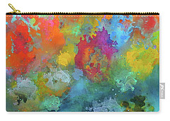 Field Of Flowers. Painting. Carry-all Pouch