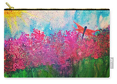 Field Of Flowers W Firefly Carry-all Pouch