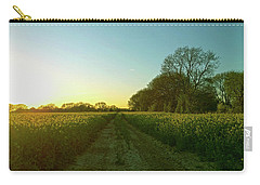 Carry-all Pouch featuring the photograph Field Of Gold by Anne Kotan