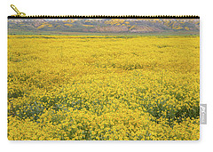 Carry-all Pouch featuring the photograph Field Of Goldfields by Marc Crumpler