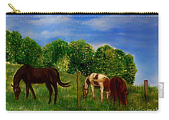 Field Of Horses' Dreams Carry-all Pouch