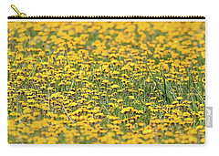 Field Of Lions Carry-all Pouch by Richard Engelbrecht