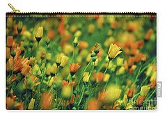 Field Of Orange And Yellow Daisies Carry-all Pouch