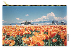 Field Of Orange Carry-all Pouch