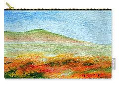 Carry-all Pouch featuring the painting Field Of Poppies by Jamie Frier
