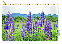 Carry-all Pouch featuring the photograph Field Of Purple by Greg Fortier