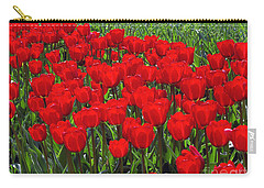 Field Of Red Tulips Carry-all Pouch