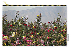 Field Of Roses Carry-all Pouch by Laurel Powell