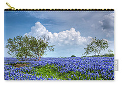 Field Of Texas Bluebonnets Carry-all Pouch by David and Carol Kelly