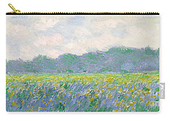 Field Of Yellow Irises At Giverny Carry-all Pouch by Claude Monet