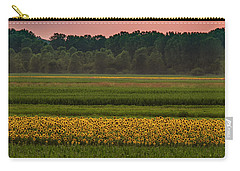 Fields Of Sunflowers Carry-all Pouch by Garry McMichael