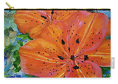Carry-all Pouch featuring the painting Fierce Tiger by Judith Rhue